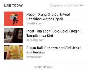 Screenshot judul-judul berita clickbait (Foto: Artikel jurnal pribadi Deanafahira)